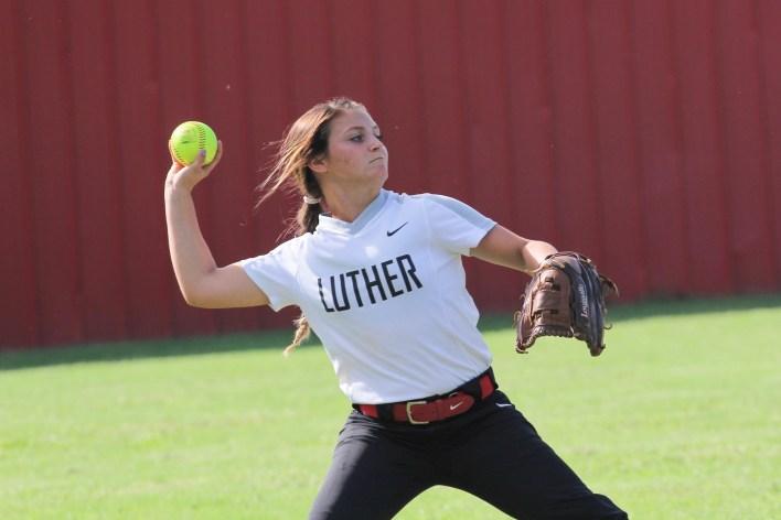 Luther Lions softball S Jones