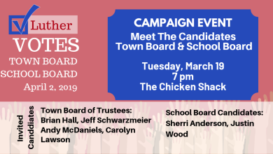 Photo of Luther Candidate Event on March 19