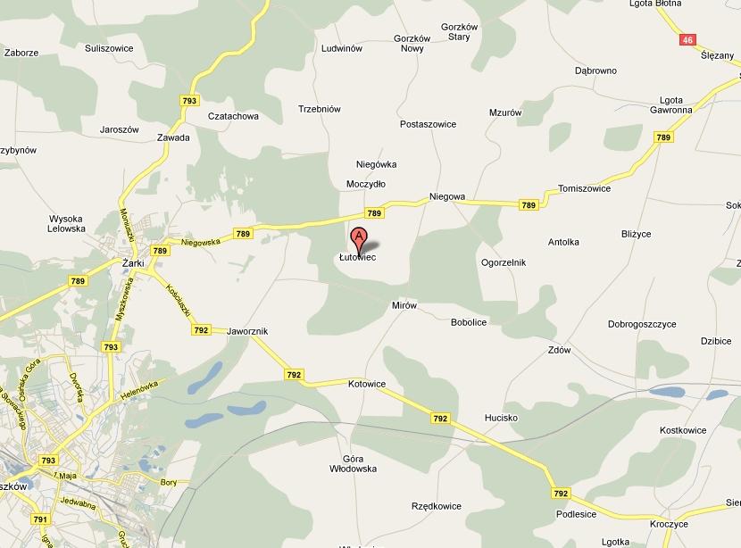 Mapa Łutowiec