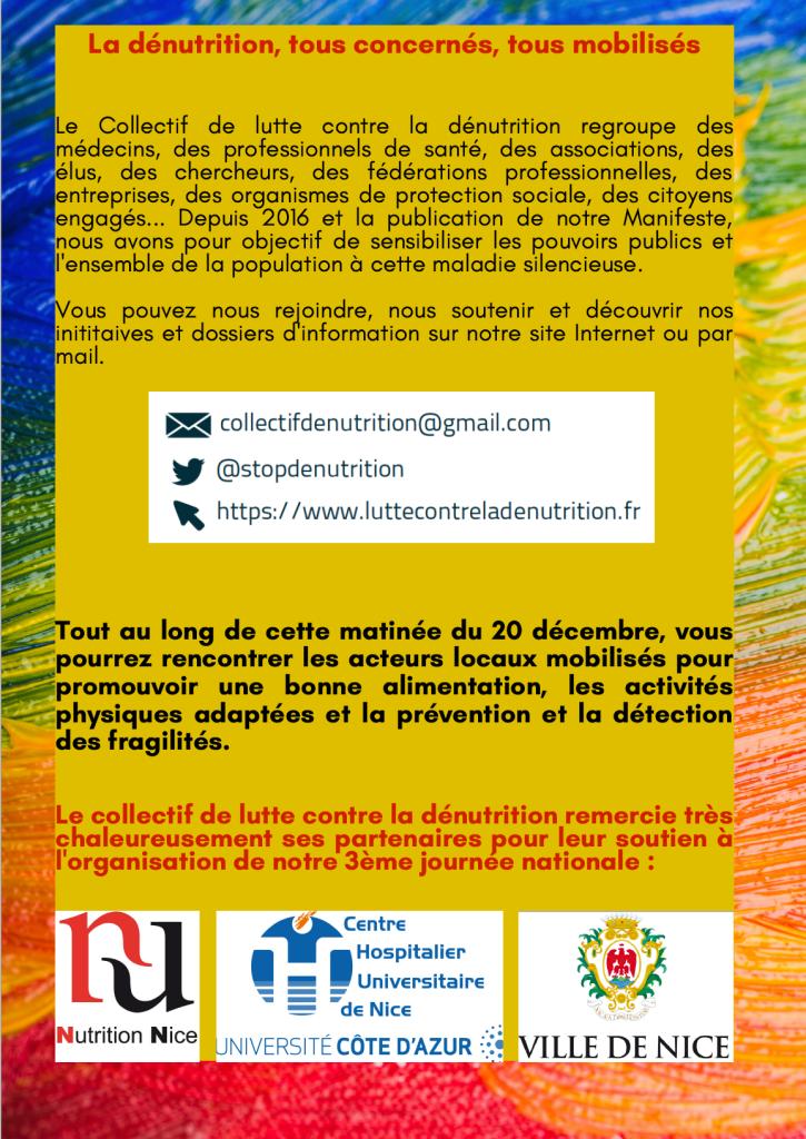 Programme journée du 20 décembre 2019 collectif de lutte contre la dénutrition