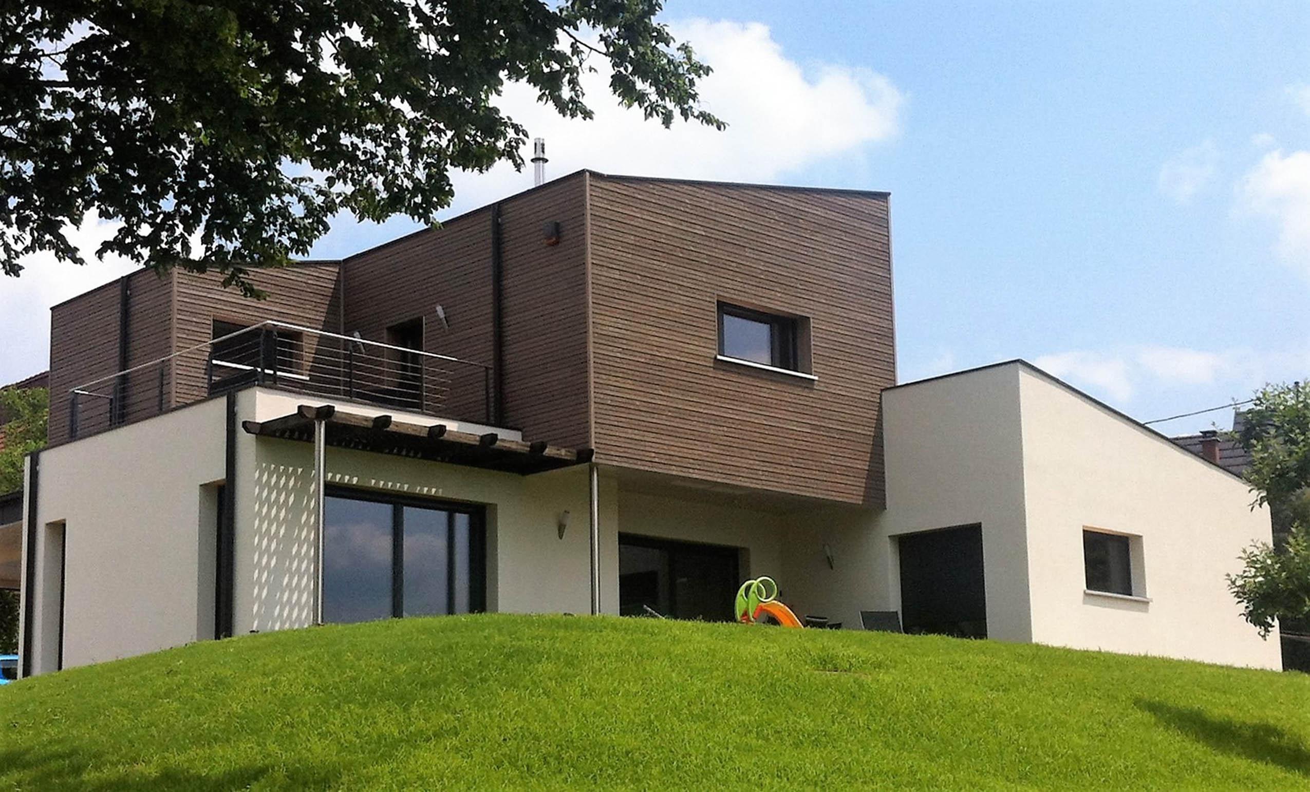 Construction Dune Maison Bois Durlinsdorf Dans Le Haut