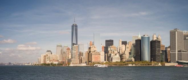 Manhattan Von Der Staten Island Ferry Gesehen