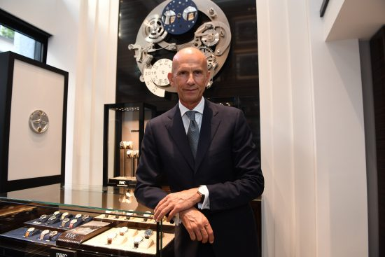 HANDOUT - Beppe Ambrosini, Brand Manager IWC Italy, attends IWC Schaffhausen Boutique Milan Opening on June 28, 2016 at Via Montenapoleone, Milano. (PHOTOPRESS/Getty Images for IWC)