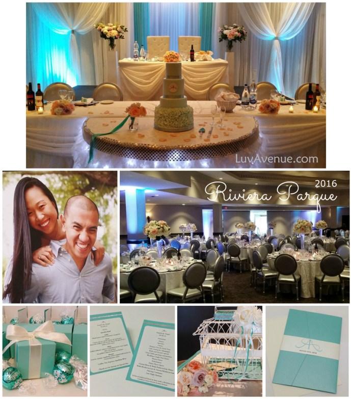 Tiffany Blue Wedding Riviera Parque Vaughan