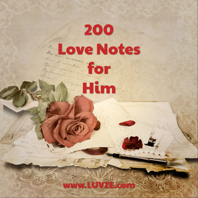 200 Romantic Love NotesWords For Him From The Heart