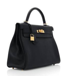2bb21e259d61 Hermes 32cm Black Clemence Leather Kelly