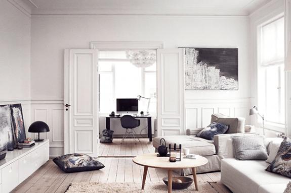 Ce bel appartement est l'exemple type du potentiel danois en matière de design