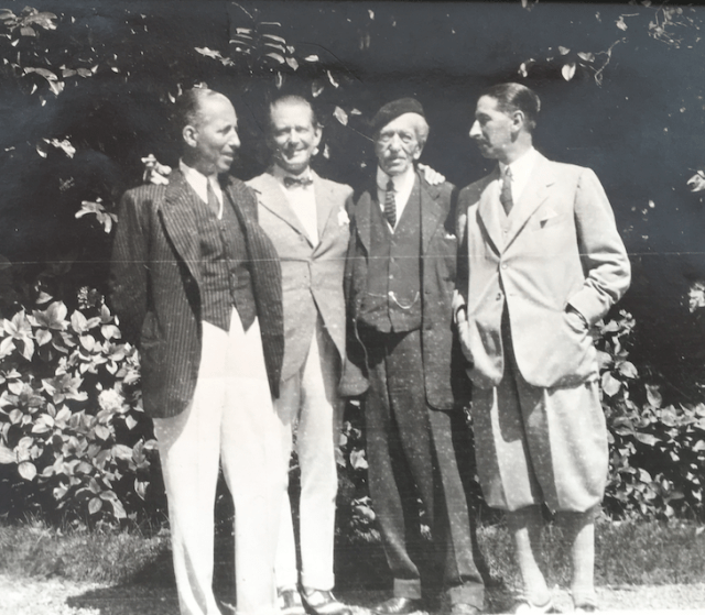 The three Cartier Brothers with their father