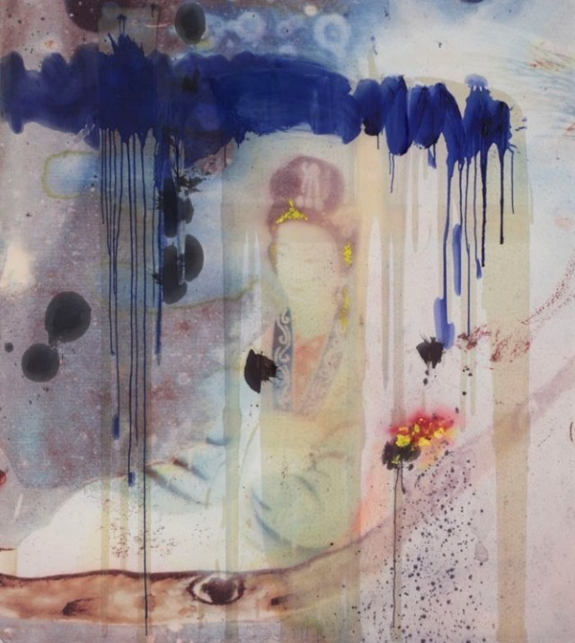 Untitled (Chinese Painting) painted in 2008 painted by Julian Schnabel using spraypaint, ink, resin and oil on polyester. Priced at €300,000/Courtesy: artsy.net