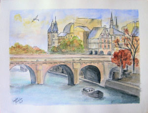 Paris watercolor