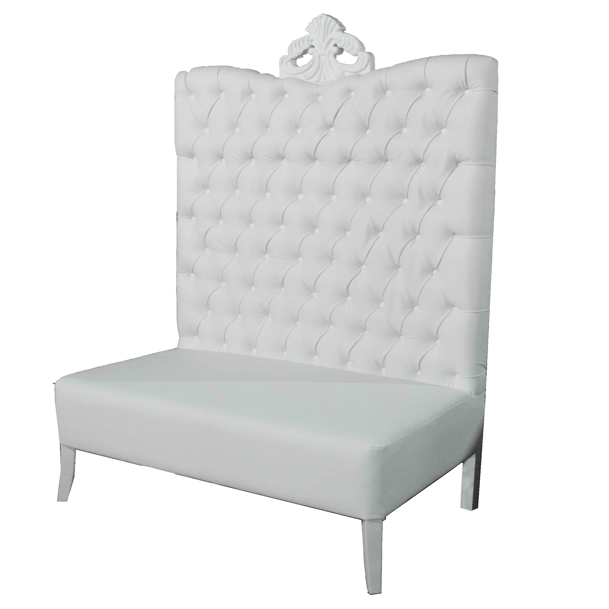 Sensational White Luxe Line High Back Sofa Pabps2019 Chair Design Images Pabps2019Com