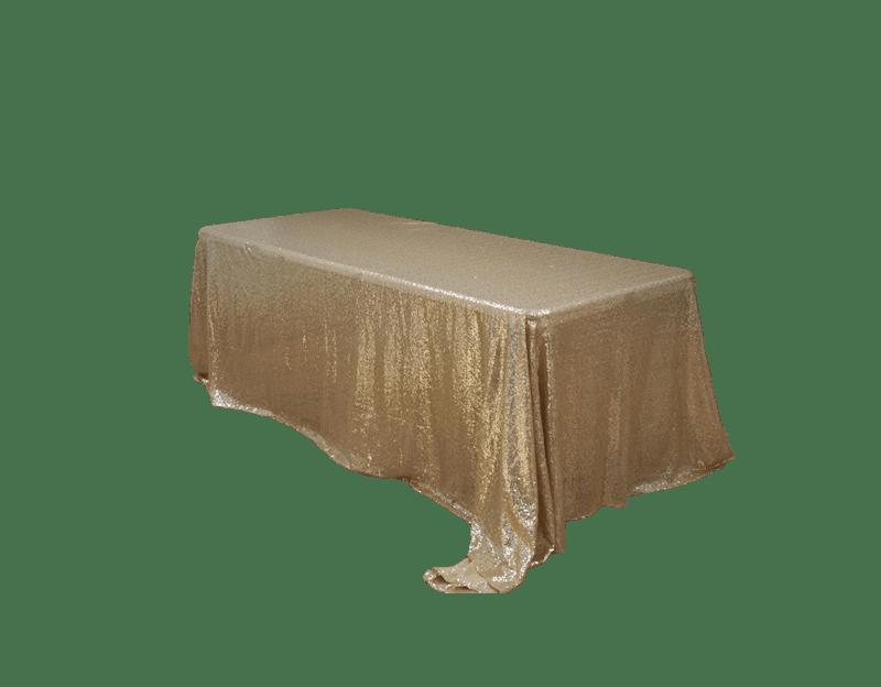 Gold Sequin 90 X 132 Tablecloth Luxe Event Rental Atlanta