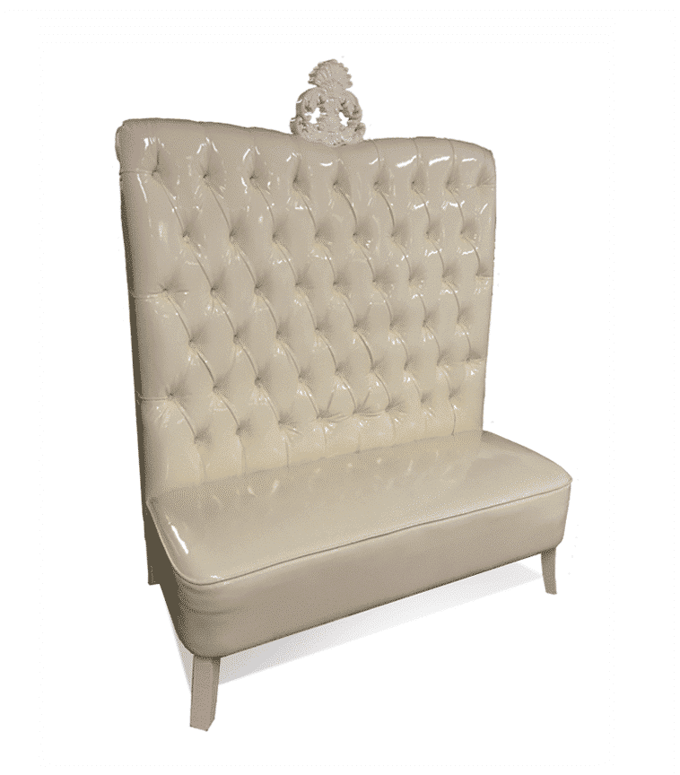 Ivory Luxe Line High Back Sofa Luxe Event Rental