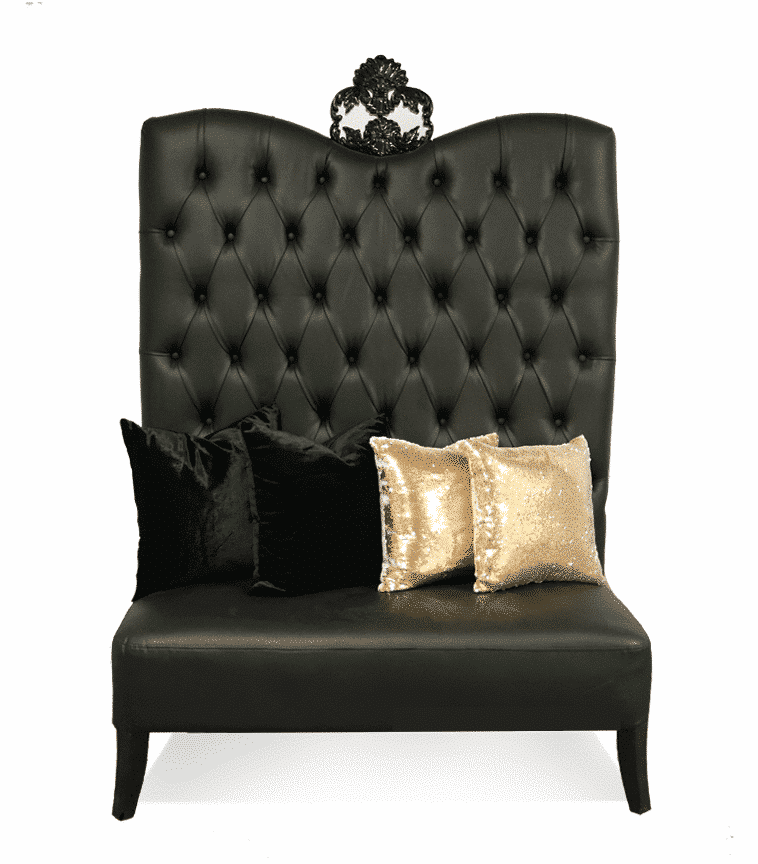 Black Luxe Line High Back Sofa   Image On Https://www.luxeeventrental