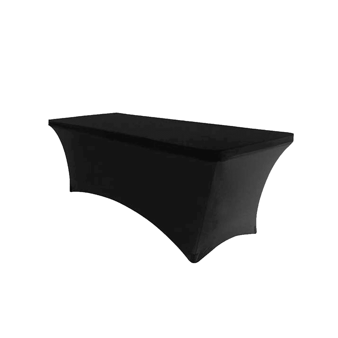 Design Black Tablecloth 6 ft spandex black tablecloth luxe event rental tablecloth