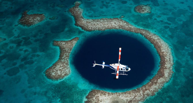 5 White Knuckle Adventure Destinations Discovering the Blue Hole in Belize