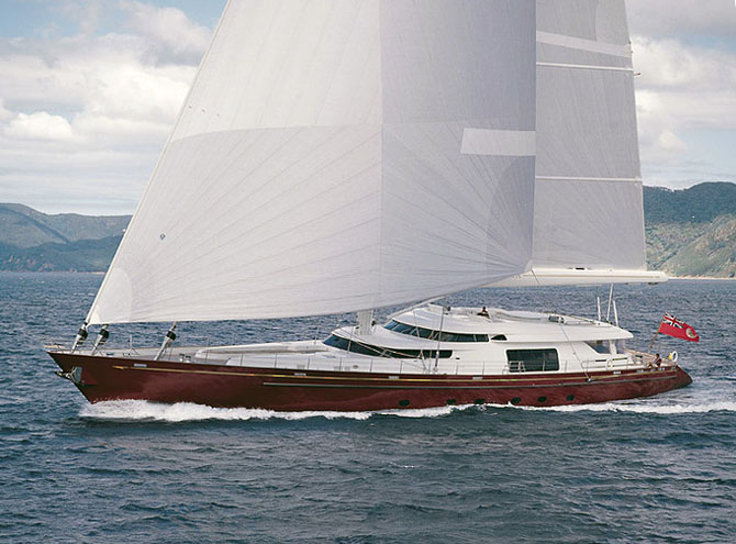 Top 7 Sailing Superyachts to Charter This Winter Georgia 1