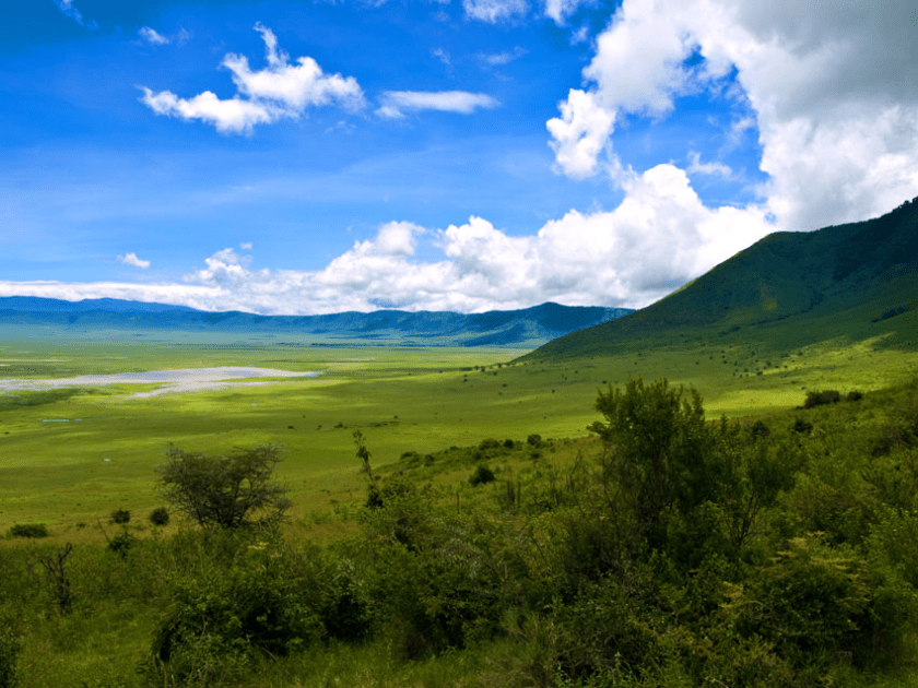 Crater Ngorongoro See Mans First Prints 2