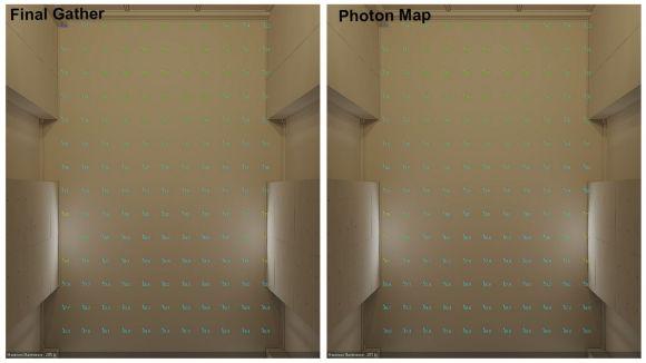 Simulazione della luce artificiale con 3DsMax griglia di calcolo