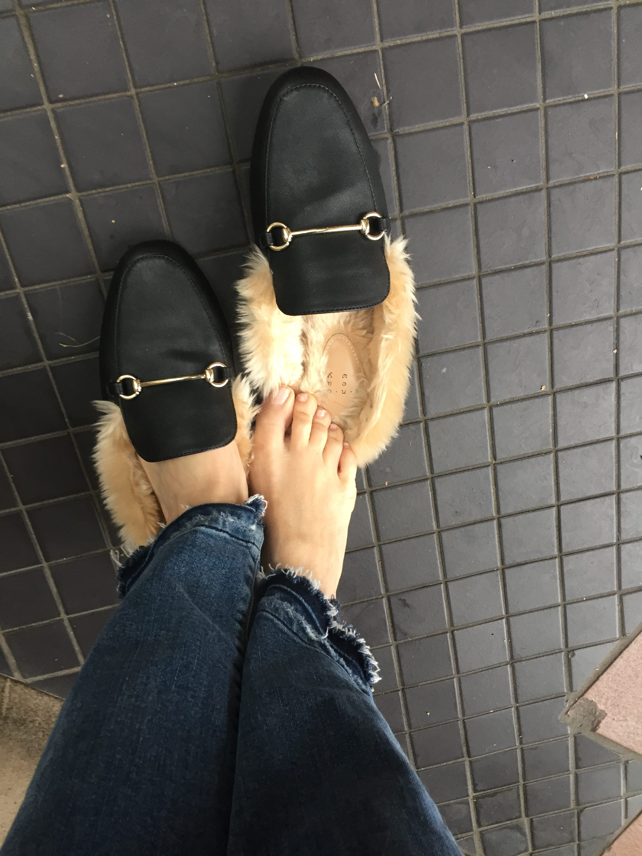 Faux Fur Mules at Target • Luxe Odette