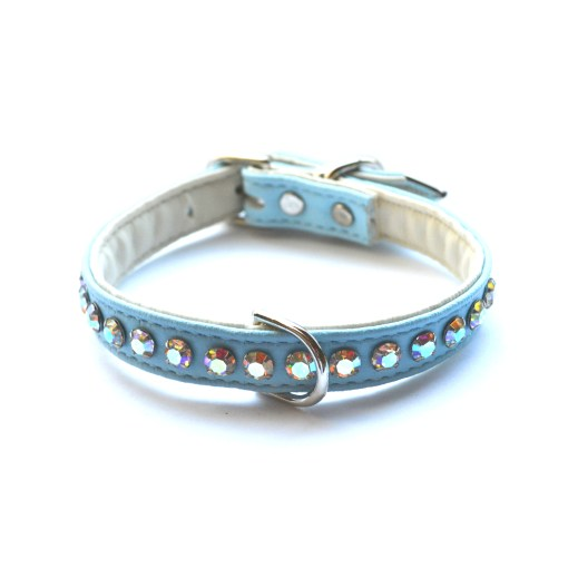 Ashley Designer Dog Robins Egg Crystal Collar