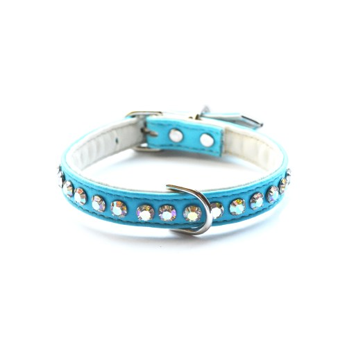 Jackie O Designer Dog Collar Teal