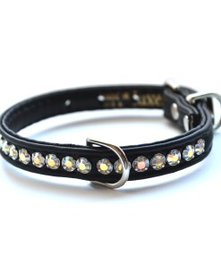 Jackie O Dog Collar Black