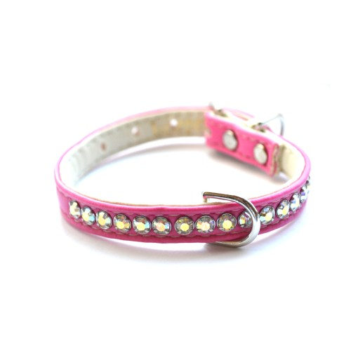 Jackie O Designer Dog Collar in Hot Pink