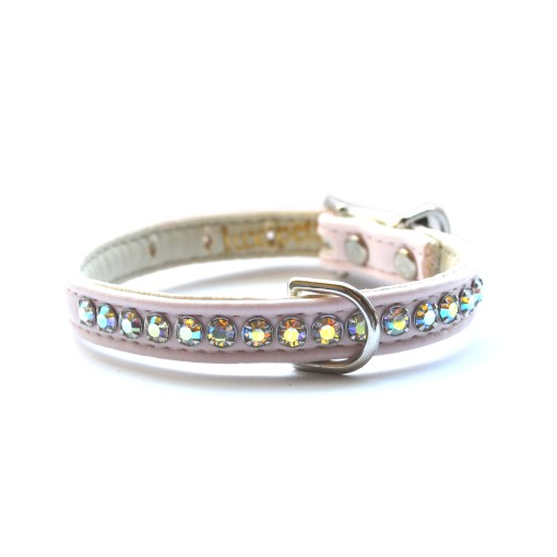 Jackie O Dog Collar Light Pink