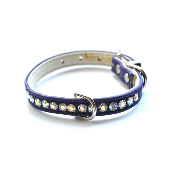 Jackie O Designer Dog Collar in Purple