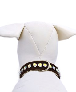 dog collar chocolate