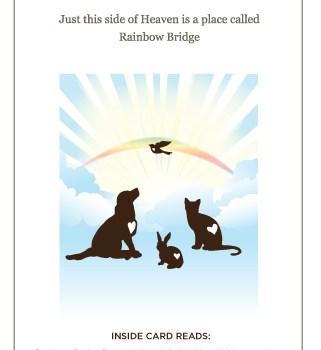 Pet Sympathy Card