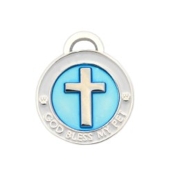 pet charm - cross blue