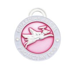 Guardian Angel Dog Pet Charm Pink