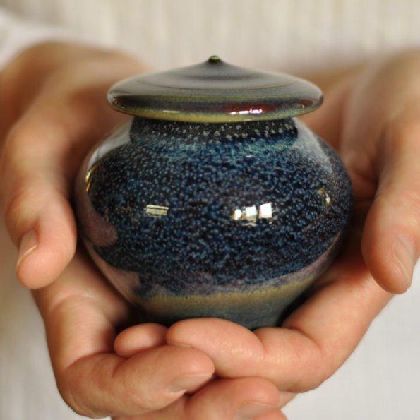 Infinite Skies Ceramic Artisan Pet Urn -holds up to 10lbs of pet cremains