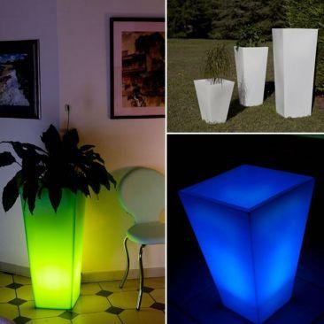Pot Lumineux Et Cache Pot Lumineux Pour L Exterieur Lux Et Deco