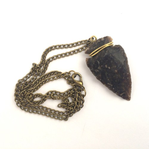 Black Arrowhead Men's Necklace