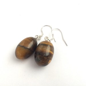 Tiger's Eye Earrings, Nature Jewellery, Fashion Earrings