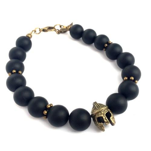 Sparta Black Onyx Bracelet, Apache Men's Jewellery