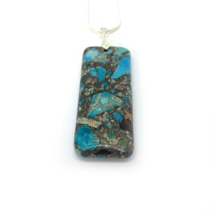 Women's Sea Jasper Gemstone Pendant