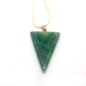 Woman's Green Agate Pendant