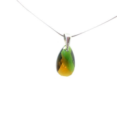 Green Swarovski pendant