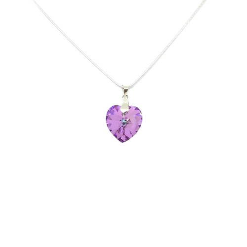 Pink Swarovksi Heart Pendant