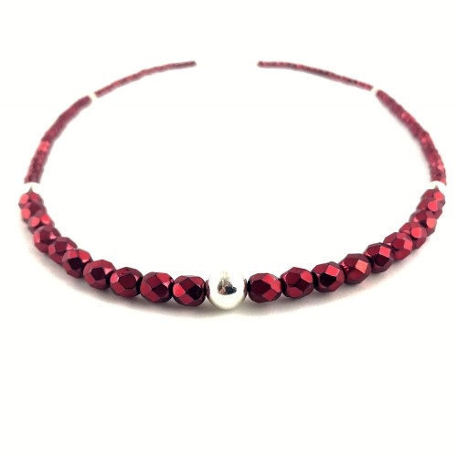Fire polished crystal necklace