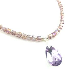 Swarovski and Czech crystal necklace