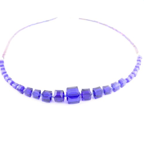 Czech crystal cube necklace