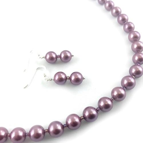 South sea shell pearl necklace earrings set online uk