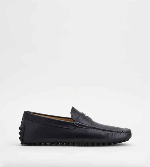 TOD'S black leather shoes with rubber sole