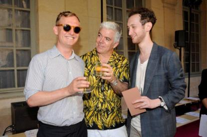 Acne Paper's editor in chief Thomas Persson, style.com's Tim Blanks and Matthew Schneier