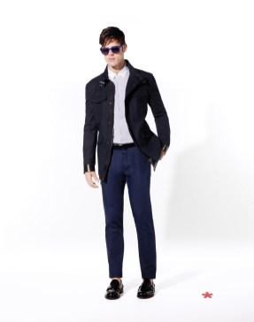 CELIO CLUB_NCUTER: parka coton 129,90¤ NCAPRESS: chemisette coton 39,99¤ NCOPINS: pantalon poly-viscose 55,99¤ NCIGLASSES: lunettes pliables acétate 19,99¤ NCIBLACK: ceinture cuir 25,99¤ NCIPENNY: mocassin cuir 89.99¤